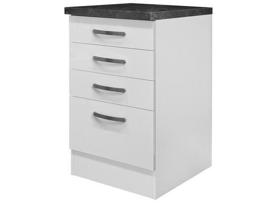 Schubkastenunterschrank Alba  Ussa 50 - Weiß, MODERN, Holzwerkstoff (50/86/60cm)