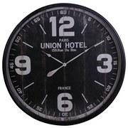 Wanduhr Union Hotel DM: 90 cm - Schwarz, Metall (90cm)