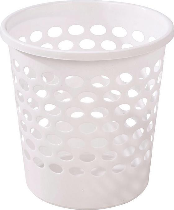 Papierkorb Weiß 10 Liter - Weiß, KONVENTIONELL, Kunststoff (25,5cm) - Plast 1