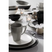 Dezertný Tanier Nele - čierna, Moderný, keramika (21/19/2,3cm) - Premium Living