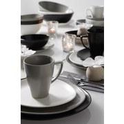 Talíř Jídelní Nele - černá, Moderní, keramika (26,3/23/2,5cm) - Premium Living