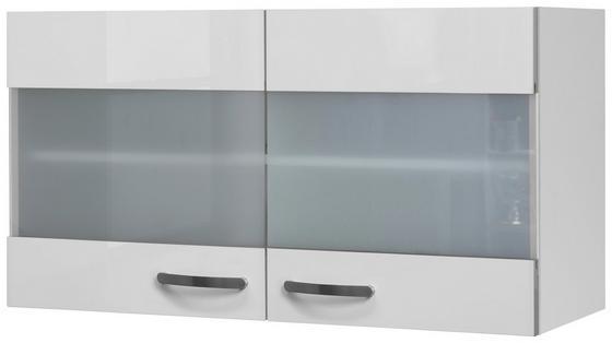 Kuchyňská Horní Skříňka Alba  Hgh 100 - bílá, Moderní, kompozitní dřevo/sklo (100/54,8/32cm)