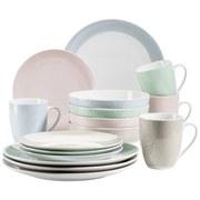 Kombiservice Kitchen Time II 16-Tlg. - Beige/Rosa, Basics, Keramik - Mäser