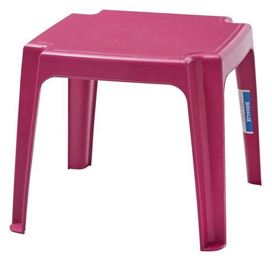 Kinder-Gartentisch Pink Kunststoff, L 49 cm - Pink, KONVENTIONELL, Kunststoff (49/41/49cm) - Ombra