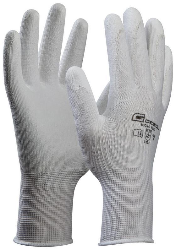 Microflexhandschuhe Gr. 9 - Weiß, KONVENTIONELL, Textil (9) - Gebol