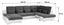 Sedací Souprava Multi - hnědá/béžová, Moderní, textilie (184/345/228cm)