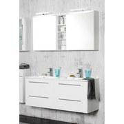 Waschtischkombi Doppelbecken + Soft-Close Mailand B: 120cm - Weiß, MODERN, Holzwerkstoff/Kunststoff (120/54/47cm)