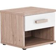 Nachtkästchen Cariba B: ca. 46 cm - Eichefarben/Weiß, Design, Holzwerkstoff (46/38/40cm) - MID.YOU