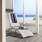 Sluneční Lehátko Trine - světle šedá, Moderní, kov/textil (55/180/78/92cm) - MODERN LIVING