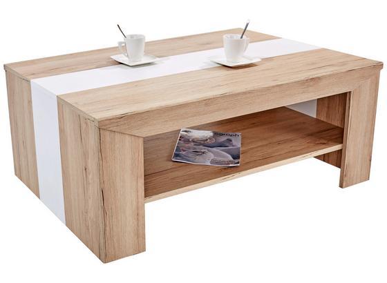 Konferenční Stolek Madras - bílá/barvy dubu, Konvenční, kompozitní dřevo (110/40/70cm)
