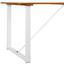 Záhradný Stôl Leonor 180x90 Cm - biela/farby akácie, Moderný, kov/drevo (180/90/75cm) - Modern Living