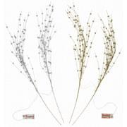 Dekozweig Rosita - Silberfarben/Goldfarben, ROMANTIK / LANDHAUS, Kunststoff (76cm) - James Wood