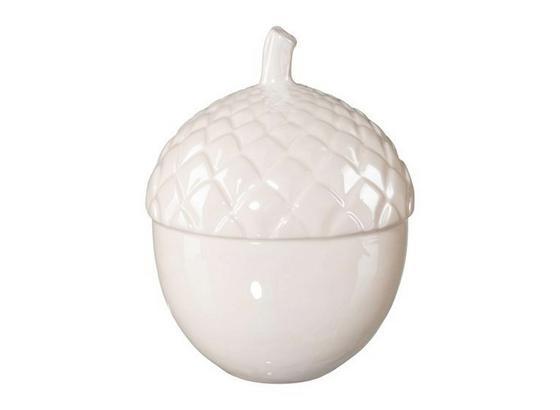 Dekofrucht H: 12 cm, Creme - Creme, MODERN, Keramik (9/9/12cm)