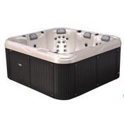 Whirlpool Acryl Venedig 210x200x90 cm - Dunkelgrau/Weiß, MODERN, Kunststoff (210/200/90cm)