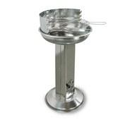 Holzkohlegrill Cena 43x85x43 cm - Silberfarben, Basics, Metall (43/85/43cm) - Ambia Garden