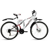 Mountainbike Mtb Fully 26'' Zodiac 574m - Rot/Weiß, Basics, Metall (180/70cm)