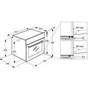 Einbaubackofen PBWR6 OP8V2 IN - Edelstahlfarben/Schwarz, Basics, Glas/Kunststoff (59,5/59,5/55,1cm) - Privileg