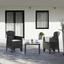 Balkonmöbel Set Akita Kunststoff mit Kissen - Anthrazit/Grau, MODERN, Kunststoff/Textil