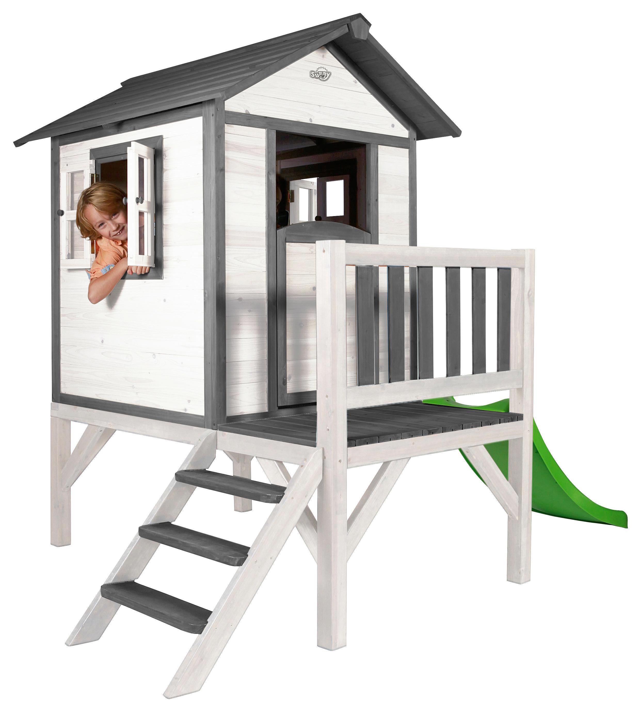 Spielhaus Sunny Lodge XL Weiß/Grau