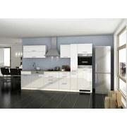 Küchenblock Mailand Gsp B: 330 cm Weiß - Eichefarben/Weiß, Basics, Holzwerkstoff (330cm) - MID.YOU