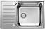 Spüle Blanco Lantos XL 6 S-if Comp. - Edelstahlfarben, KONVENTIONELL, Metall (78/50/16cm) - Blanco