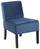 Stuhl Samt Blau - Blau/Schwarz, MODERN, Holz/Textil (52/75/65cm)