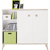Komoda Billund - bílá/barvy dubu, Moderní, dřevo/dřevěný materiál (125/111/40cm) - MODERN LIVING