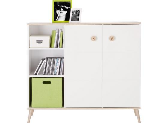 Komoda Billund - farby dubu/biela, Moderný, drevo/kompozitné drevo (125/111/40cm) - Modern Living