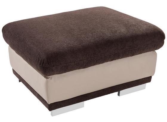 Taburet Seaside - hnedá/svetlosivá, Konvenčný, textil (97/47/67cm)