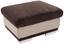 Taburet Seaside - světle šedá/hnědá, Moderní, textil (97/47/67cm)