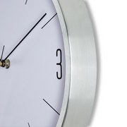 Hodiny Nástěnné Jesper, Ca. 30x4cm - barvy stříbra, Moderní, kov/sklo (30,5/30,5/4cm) - Mömax modern living