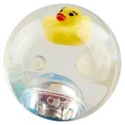 Spielball Springball - Pink/Transparent, Basics, Kunststoff (6,5cm)