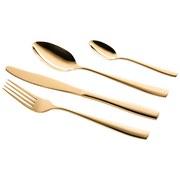 Besteckset 24-Teilig Lausanne für 6 Personen - Goldfarben, Basics, Metall - Mäser