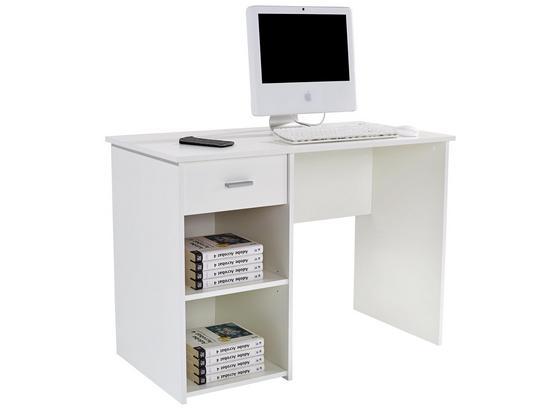 Íróasztal Kubek 2 - Fehér, modern, Faalapú anyag (110/75/50cm)