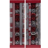 Geschenkpapier Tina 13tlg Set - Rot/Silberfarben, MODERN, Papier (70,5/21,5/4cm)