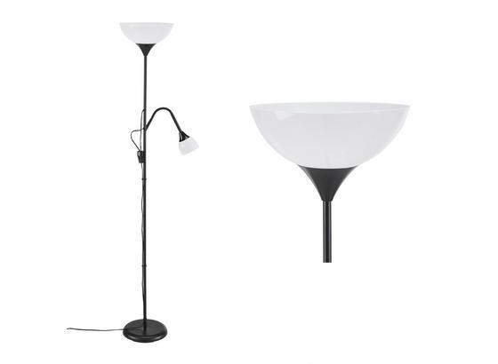 Stojací Svítidlo Cenový Trhák - bílá/černá, Konvenční, kov/umělá hmota (28/175cm) - Based