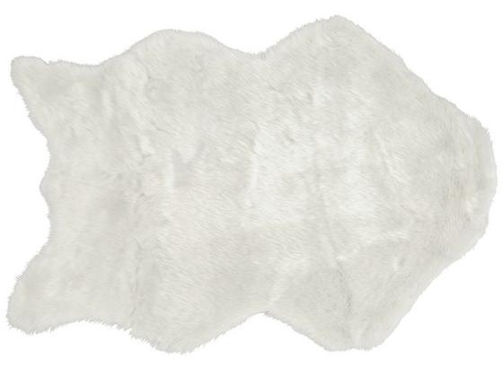 Kunstfell Lisa In Weiß, Ca. 60x90cm - bílá, umělá hmota (60/90cm) - Mömax modern living