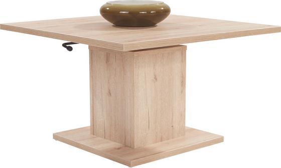 Dohányzóasztal Bern - tölgy színű, modern, faanyagok (80/51-70/80cm)