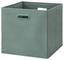 Skládací Krabice Elli -ext- -top- - jadeitová zelená, Moderní, karton/textil (33/33/32cm) - Modern Living