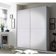 Schwebetürenschrank 170cm Starter, Schachbrettweiß - Weiß, Design, Holzwerkstoff (170/195/60cm) - Carryhome
