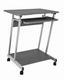 Schreibtisch Print - Anthrazit/Alufarben, MODERN, Holz/Metall (60/75/48cm) - Sonne