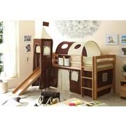 Spielbett Toby R 90x200 cm Braun/Beige - Beige/Braun, Natur, Holz (90/200cm) - Carryhome