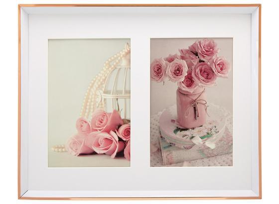 Rám Na Obrazy Mara - růžová, umělá hmota (26,3/21,2/1,8cm) - Modern Living