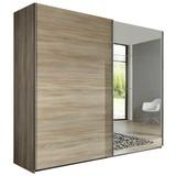 Skriňa Ernie Dekor Dub - farby dubu, Moderný, kompozitné drevo/sklo (225/210/65cm)