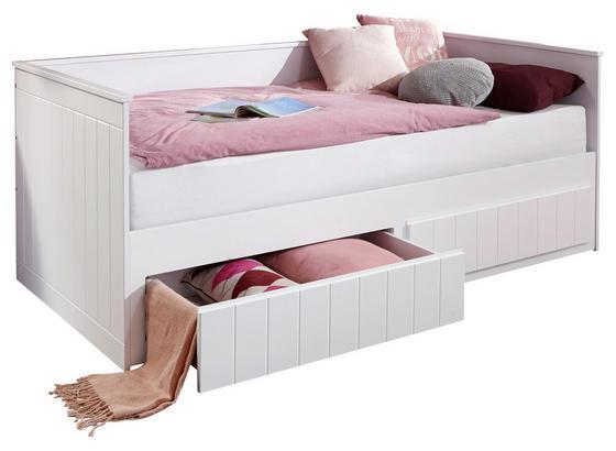 stauraumbett timmi wei 90 180x200 online kaufen m belix. Black Bedroom Furniture Sets. Home Design Ideas