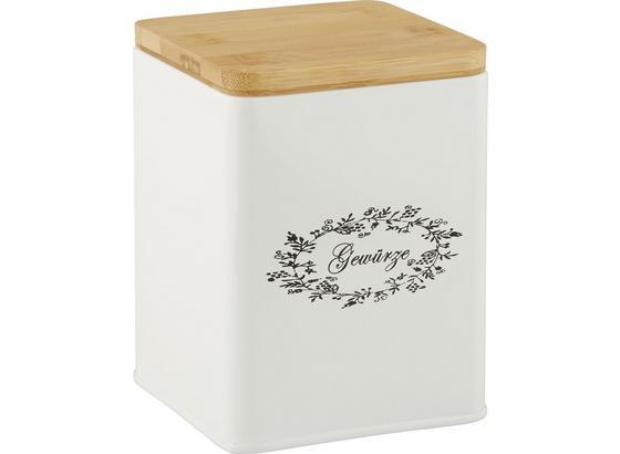 Box S Víkem Lore - bílá, Romantický / Rustikální, kov/dřevo (11,5/11,5/14cm) - Zandiara