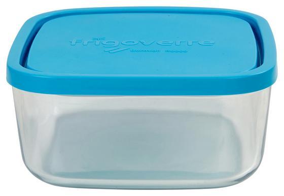 VORRATSDOSE Lida 1,6 Liter - Blau/Klar, KONVENTIONELL, Glas/Kunststoff (19/19/8cm)