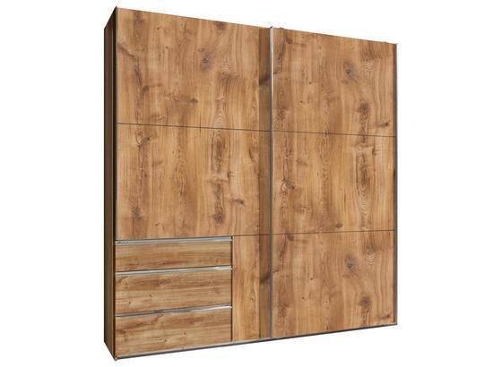 Schwebetürenschrank mit Schubladen 200cm Level 36a - Eichefarben, MODERN, Holzwerkstoff (200/216/65cm)
