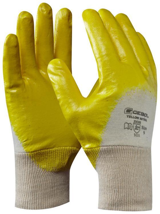 Arbeitshandschuhe Gr. 9 - Gelb, KONVENTIONELL, Textil (20cm) - Gebol
