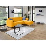 Wohnlandschaft in L-Form Geneve 217x144 cm - Gelb/Naturfarben, MODERN, Textil (217/144cm)
